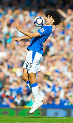 LIVERPOOL, ENGLAND - Sunday, September 20, 2009: Everton's Marouane Fellaini in action against Blackburn Rovers during the Premiership match at Goodison Park. (Pic by David Rawcliffe/Propaganda)