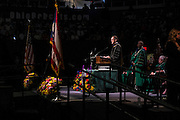 Dr. Joseph Shields addresses graduates during Ohio University's Graduate Commencement ceremony on Friday, May 1, 2015.  Photo by Ohio University  /  Rob Hardin