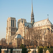 Rear view of Notre Dame Cathedral, Paris