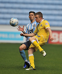 MARK BEEVERS MILLWALL, SHANE FERGUSON MILLWALL, Coventry City v Millwall Sky Bet League One, Ricoh Arena, Saturday 16th April 2016<br /> Score 2-1