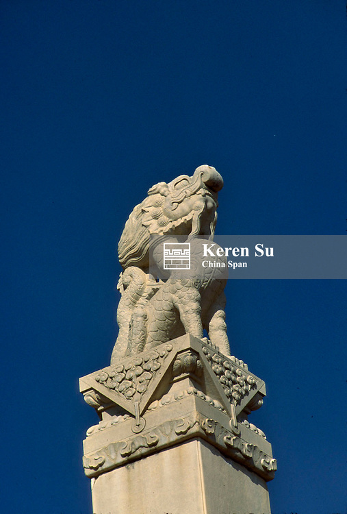 Ancient stone sculptures at Eastern Qing Tombs (Tombs of Qing Dynasty Emperors), Hebei Province, China