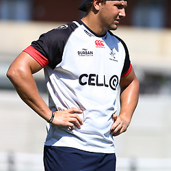 Etienne Oosthuizen  during The Cell C Sharks Press Conference and training session at Growthpoint Kings Park in Durban, South Africa. 30 March 2017(Photo by Steve Haag)<br /> <br /> images for social media must have consent from Steve Haag