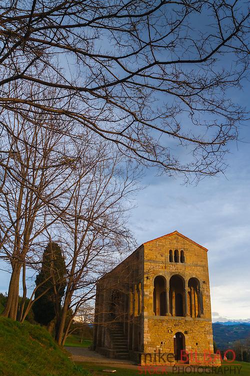 church of St Mary at Mount Naranco. Oviedo, Asturias, Spain. Europe.