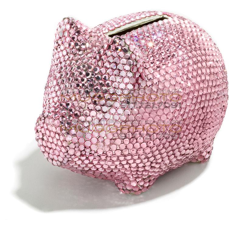 pink jeweled piggy bank