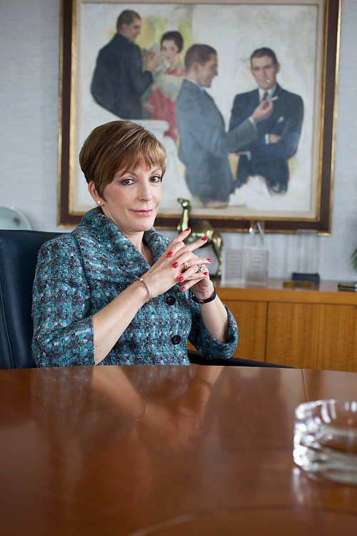 Reynolds American Inc. Chief Executive Susan Ivey at her office inside the Reynolds American Plaza Building in Winston-Salem, North Carolina, Thursday, March 18, 2010. Ivey is responsible for a new branding push at Reynolds that has manifested in a new line of products that focus on smoke-less tobacco. ..CREDIT: D.L. Anderson for the Wall Street Journal..IVEY
