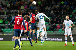 Ole Selnaes of Norway and Zajc Miha of Slovenia during football match between National Teams of Slovenia and Norway in Final Tournament of UEFA Nations League 2019, on November 16, 2018 in SRC Stozice, Ljubljana, Slovenia. Photo by Urban Urbanc / Sportida