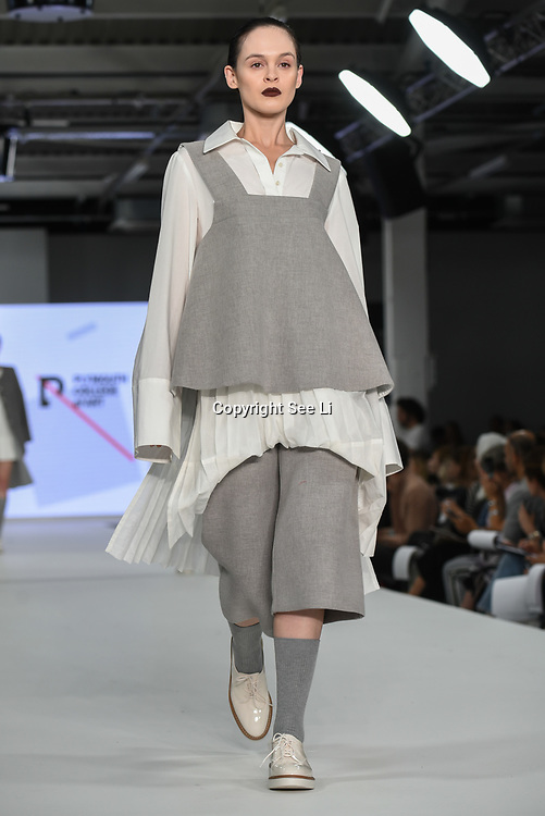 Designer Lan Chen at the Best of Graduate Fashion Week showcases at the Graduate Fashion Week 2018, June 6 2018 at Truman Brewery, London, UK.