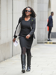 Labour MP Fiona Onasanya, 34, charged with perverting the course of justice, arrives at The Old Bailey for her plea hearing. London, August 13 2018.