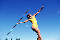 Javelin throw --- Image by © Jim Cummins/CORBIS