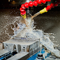 Machining in action, coolant spray, Commercial Photography by Pettepiece Photography, Tucson, Phoenix