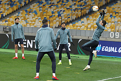 March 13, 2019 - Kiev, Ukraine - Chelsea players in action during a training session on the Olimpiyskiy stadium in Kiev, Ukraine, on 13 March 2019. Chelsea will face Dynamo Kyiv in the UEFA Europa League, second leg soccer match in Kiev on 14 March 2019. (Credit Image: © Serg Glovny/ZUMA Wire)