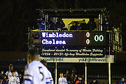 The match begins during the FA Youth Cup match between U18 AFC Wimbledon and U18 Chelsea at the Cherry Red Records Stadium, Kingston, England on 9 February 2016. Photo by Michael Hulf.