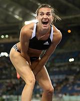 Friidrett<br /> Golden Gala / ÅF Golden League<br /> Roma<br /> 11.07.2008<br /> Foto: imago/Digitalsport<br /> NORWAY ONLY<br /> <br /> Yelena Isinbayeva (Russland) <br /> Verdensrekord i stav - 5.03