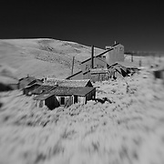 Ghost Town Mine - Bodie, CA - Lensbaby - Infrared Black & White