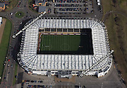 aerial photograph of Pride Park Stadium Derby Derbyshire  England UK home of Derby County (the Rams)