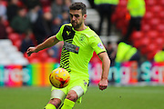 Huddersfield Town defender Tommy Smith first to the ball during the Sky Bet Championship match between Nottingham Forest and Huddersfield Town at the City Ground, Nottingham, England on 13 February 2016. Photo by Aaron  Lupton.