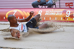 28-08-2015 CHN: IAAF World Championships Athletics day 7, Beijing<br /> Long jump Decathon / Damian Warner CAN<br /> Photo by Ronald Hoogendoorn / Sportida