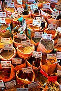 Bags of Spices at an Israeli spice market