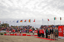 Podium: 1 Jung Michael (GER), 2 Klimke Ingrid (GER), 3 Fox Pitt William (GBR) <br /> Jumping<br /> HSBC FEI European Championships Eventing - Malmö 2013<br /> © Dirk Caremans