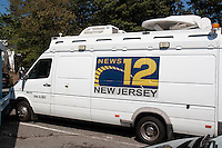 The television crew from a local cable news network appeared on the scene to interview Edison residents.