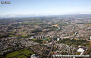 aerial photograph of Bellahouston Craigton Glasgow Scotland