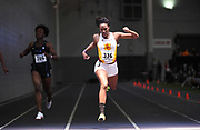 Feb 24, 2017; Seattle, WA, USA; Kyra Constantine of Southern California wins women's 200m heat in 24.04 during the MPSF Indoor Championships at the Dempsey Indoor.