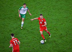 CARDIFF, WALES - Thursday, September 6, 2018: Wales' Aaron Ramsey during the UEFA Nations League Group Stage League B Group 4 match between Wales and Republic of Ireland at the Cardiff City Stadium. (Pic by Laura Malkin/Propaganda)