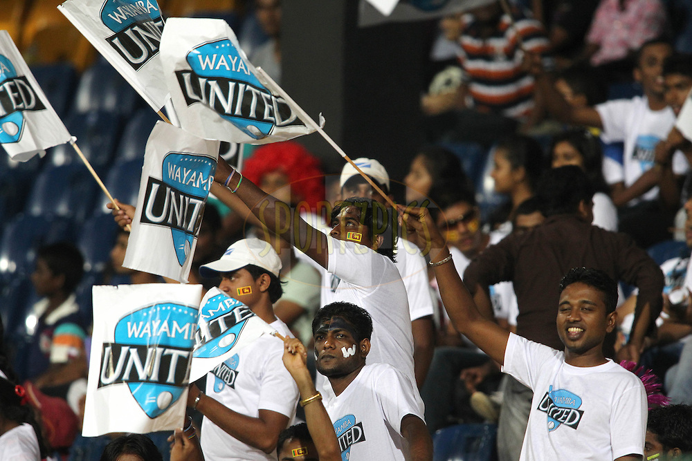 Fans during match 20 of the Sri Lankan Premier League between Ruhuna Royals and Wayamba United held at the Premadasa Stadium in Colombo, Sri Lanka on the 26th August 2012. .Photo by Shaun Roy/SPORTZPICS/SLPL