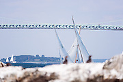 Surprise, Argument and Firefly, S Class, sailing in the Museum of Yachting Classic Yacht Regatta, day one.