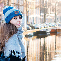 Winter on the canals in Amsterdam.