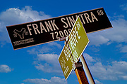 Image of famous street signs in Palm Springs, California