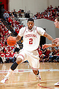 BLOOMINGTON, IN - JANUARY 12: Christian Watford #2 of the Indiana Hoosiers in action against the Minnesota Golden Gophers at Assembly Hall on January 12, 2012 in Bloomington, Indiana. Minnesota defeated Indiana 77-74. (Photo by Joe Robbins)