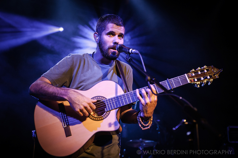 Nick Mulvey plays live at the Cambridge Junction on 17 October 2014<br /> <br /> This photo has been published on the Independent on 27 Oct 2014<br /> http://www.independent.co.uk/arts-entertainment/music/features/folk-singer-nick-mulvey-interview-i-want-everything-9821797.html