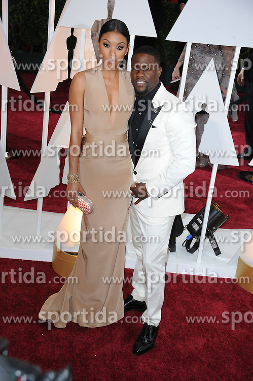 22.02.2015, Dolby Theatre, Hollywood, USA, Oscar 2015, 87. Verleihung der Academy of Motion Picture Arts and Sciences, im Bild Kevin Hart // attends 87th Annual Academy Awards at the Dolby Theatre in Hollywood, United States on 2015/02/22. EXPA Pictures &copy; 2015, PhotoCredit: EXPA/ Newspix/ PGMP<br /> <br /> *****ATTENTION - for AUT, SLO, CRO, SRB, BIH, MAZ, TUR, SUI, SWE only*****