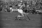 07/09/1969<br /> 09/07/1969<br /> 7 September 1969<br /> All-Ireland Senior Hurling Final: Kilkenny v Cork at Croke Park, Dublin.  <br /> Cork full-forward, R.O. Cuimin (14), and Kilkenny full-back, P. Dillon (3), fight for possession of the ball near the Kilkenny goal.