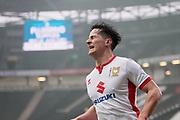 MK Dons George Williams(2) shows his frustration during the EFL Sky Bet League 1 match between Milton Keynes Dons and Bristol Rovers at stadium:mk, Milton Keynes, England on 3 March 2018. Picture by Nigel Cole.
