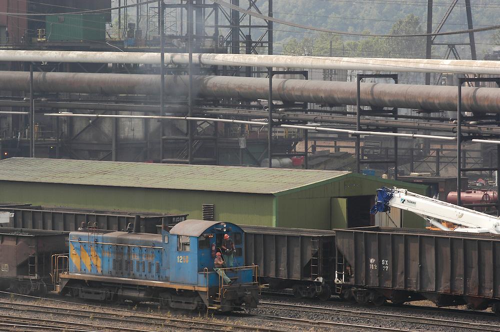 Train at a Steel Mill near Wheeling West Virginia
