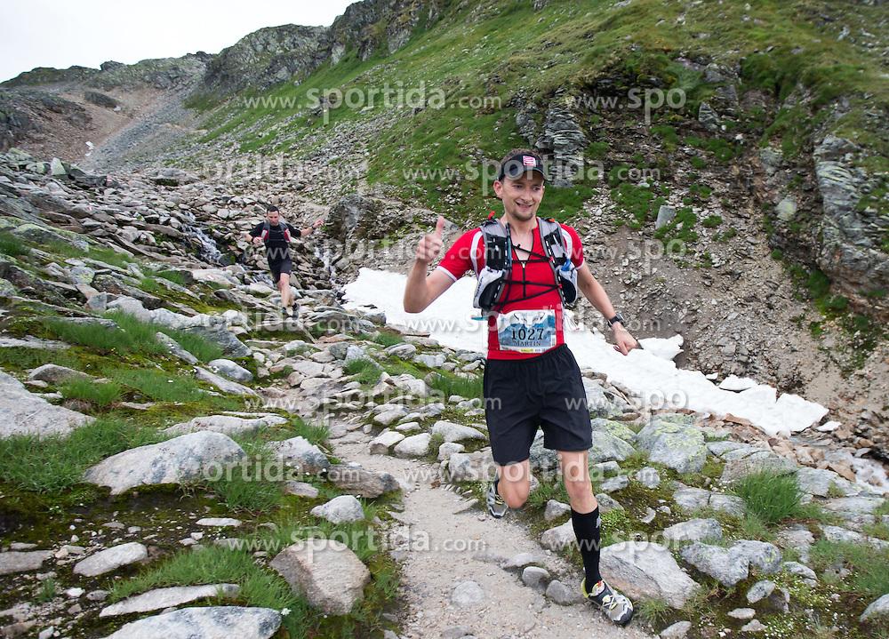 25.07.2015, Rodolfshütte, Uttendorf, AUT, Grossglockner Ultra Trail, 50 km Berglauf, im Bild Martin Gansterer (SUI, 2. Platz bei Rudolfshütte) // 2nd Place at Rudolfshut Martin Gansterer of Switzerland during the Grossglockner Ultra Trail 50 km Trail Run from Kals arround the Grossglockner to Kaprun. Uttendorf, Austria on 2015/07/25. EXPA Pictures © 2015, PhotoCredit: EXPA/ Johann Groder