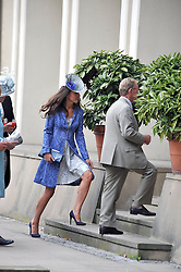 KATE MIDDLETON at the wedding of Nicholas Van Cutsem to Alice Hadden-Paton at The Guards Chapel, Wellington Barracks, London on 14th August 2009.