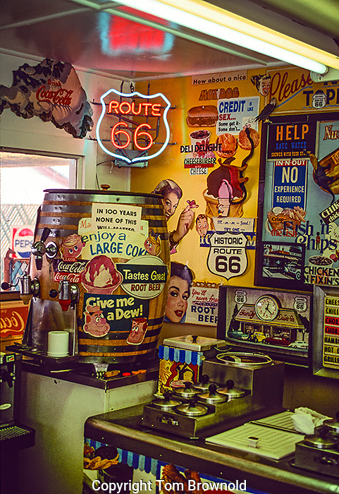 Delgadio's Sno Cap burger joint on RT 66, Seligman, Arizona.