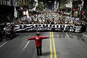 Nicolas Celaya/ URUGUAY/ MONTEVIDEO/ CENTRO<br /> En la foto, 22 Marcha del Silencio or la avenida 18 de Julio, en Montevideo. Nicol&aacute;s Celaya /adhocFOTOS<br /> 2017 - 20 de mayo - sabado