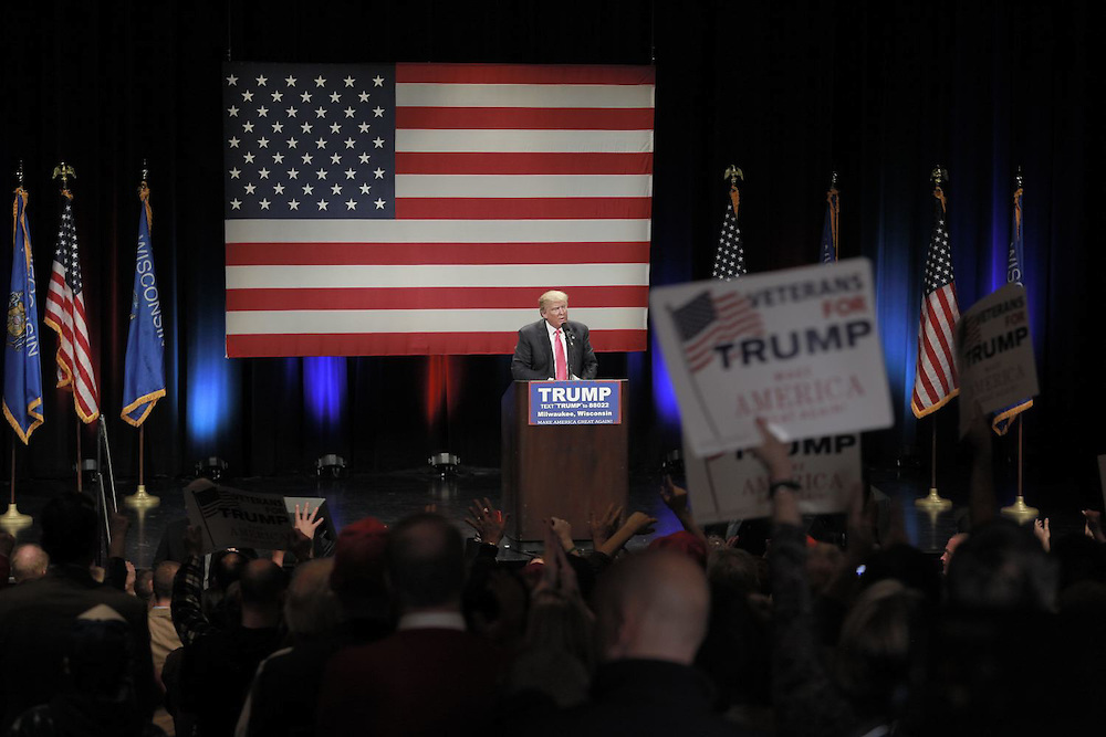 Donald Trump for President political rally in Milwaukee, Wisconsin