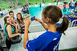 Alen Sket of Slovenia during friendly volleyball match between national teams of Slovenia and Brasil in Arena Stozice on 9. September 2015 in , Ljubljana, Slovenia. Photo by Grega Valancic / Sportida