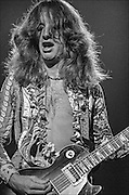 Brad Whitford performs with Aerosmith at the Honolulu International Center Arena in 1975.  The Honolulu International Center (HIC) has now been re-named the Neil S. Blaisdell Arena..©PF Bentley/PFPIX.com