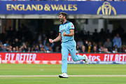 Wicket - Liam Plunkett of England celebrates taking the wicket of Kane Williamson of New Zealand during the ICC Cricket World Cup 2019 Final match between New Zealand and England at Lord's Cricket Ground, St John's Wood, United Kingdom on 14 July 2019.