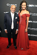 8 February -Washington, D.C: (L-R) Music Executive/Producer Berry Gordy and Eskedar Gobeze attend the BET Honors 2014 Red Carpet held at the Warner Theater on February 8, 2014 in Washington, D.C.  (Terrence Jennings)