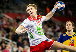 Kristian Bjornsen of Norway during handball match between National teams of Sweden and Norway on Day 7 in Main Round of Men's EHF EURO 2018, on January 24, 2018 in Arena Zagreb, Zagreb, Croatia.  Photo by Vid Ponikvar / Sportida
