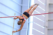 Lakan Taylor competes in the pole vault during the USA Indoor Track and Field Championships in Staten Island, NY, Sunday, Feb 24, 2019. (Rich Graessle/Image of Sport)