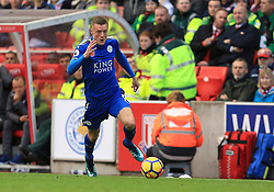 Jamie Vardy of Leicester City - Mandatory by-line: Paul Roberts/JMP - 04/11/2017 - FOOTBALL - Bet365 Stadium - Stoke-on-Trent, England - Stoke City v Leicester City - Premier League