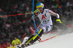 "29.01.2019, Planai, Schladming, AUT, FIS Weltcup Ski Alpin, Slalom, Herren, 1. Lauf, im Bild Felix Neureuther (GER) // Felix Neureuther of Germany in action during his 1st run of men's Slalom ""the Nightrace"" of FIS ski alpine world cup at the Planai in Schladming, Austria on 2019/01/29. EXPA Pictures © 2019, PhotoCredit: EXPA/ Erich Spiess"